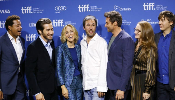 Terrence Howard, Jake Gyllenhaal, Maria Bello, Denis Villeneuve, Hugh Jackman, Melissa Leo and Paul Dano