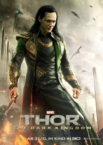 Photo Flash: Tom Hiddleston Featured in New THOR: THE DARK WORLD International Poster