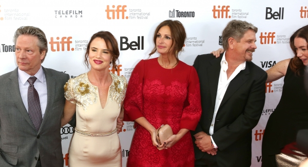Chris Cooper, Juliette Lewis, Julia Roberts, John Wells and  Julianne Nicholson