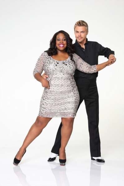 Amber Riley partners with Derek Hough