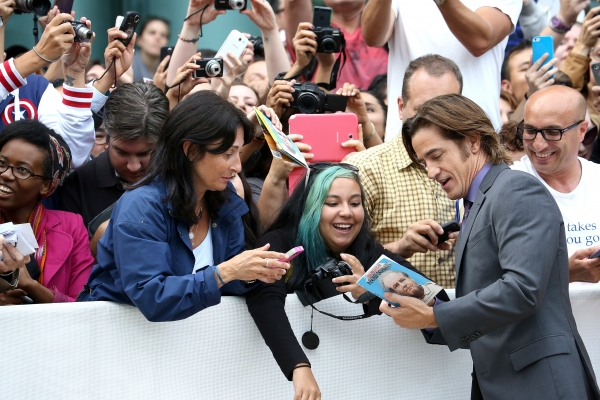 Dermot Mulroney with fans