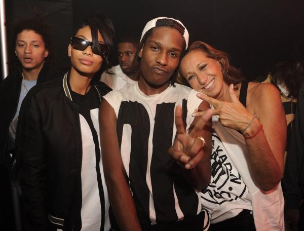 Chanel Iman, A$AP Rocky, Donna Karan