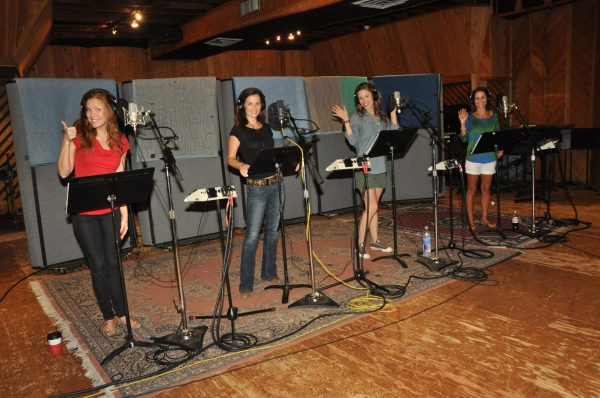 Exclusive Photo Coverage: In the Recording Studio with the Girls of JERSEY BOYS for Carols For A Cure