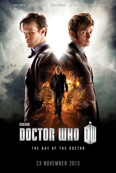 Matt Smith and David Tennant in DOCTOR WHO 50th Anniversary Poster