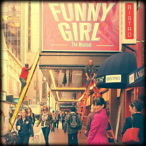 Lea Michele Shares GLEE S5 FUNNY GIRL & NYC Shots