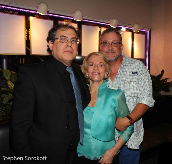 Musical Director/Pianist Tom Lawton, Tonia Tecce, Director Michael Bush Photo