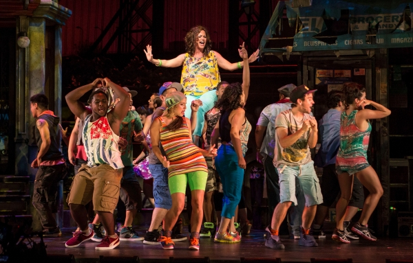 The cast lifts Keely Vasquez (Daniela) to new heights