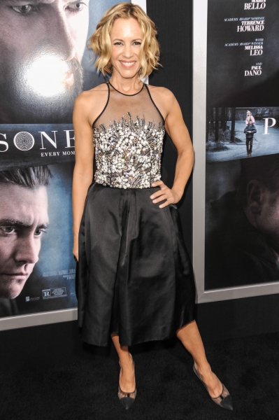 Mandatory Credit: Photo by REX USA/Rob Latour (1692619ar)Maria Bello''Prisoners'' film premiere, Los Angeles, America - 12 Sep 2013WEARING NAEEM KHAN