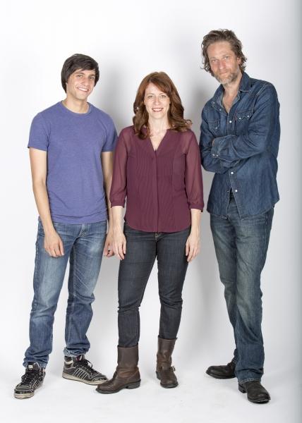Gideon Glick stars as Matthew, Eva Kaminsky as QZ and Michael Laurence as Bryan Photo