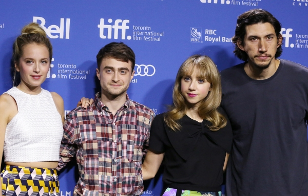 Megan Park, Daniel Radcliffe, Zoe Kazan and Adam Driver