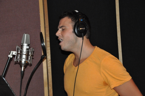 Exclusive Photo Coverage: In the Recording Studio with The Broadway Boys for Carols For A Cure!