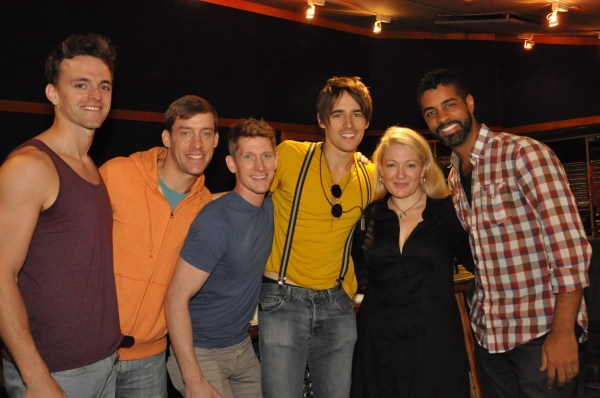 Josh Sassanella, Jamison Scott, Reeve Carney, Lynn Pinto (Producer) and Jason Michael Webb (Musical Director)