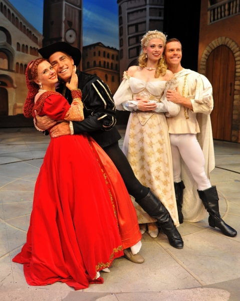 Christianne Tisdale (as Lilli/Kate), William Michals (as Fred/Petruchio), Missy Dowse (as Lois/Bianca), and Brian Ogilvie (as Bill/Lucentio)