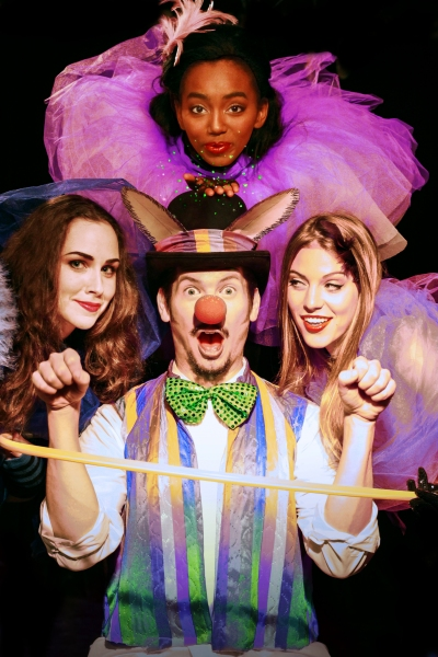 Cobweb (Megan Greener), Bottom (Blaine Smith), Mustardseed (Sheree V. Campbell), and Sabina Friedman-Seitz (Peaseblossom) ''Tie up my loves tongue...bring him silently.''