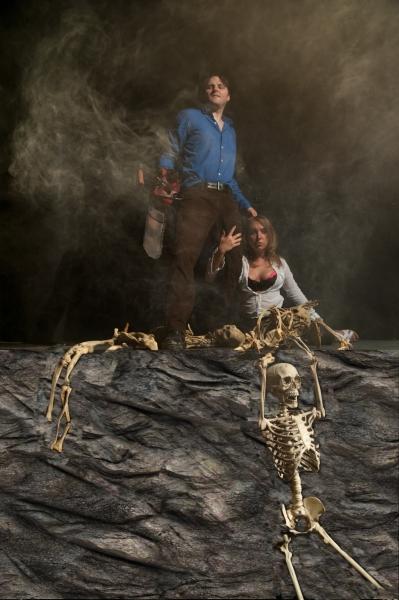 Jason Lythgoe as Ash and Natasha Gleichmann as Shelly Photo