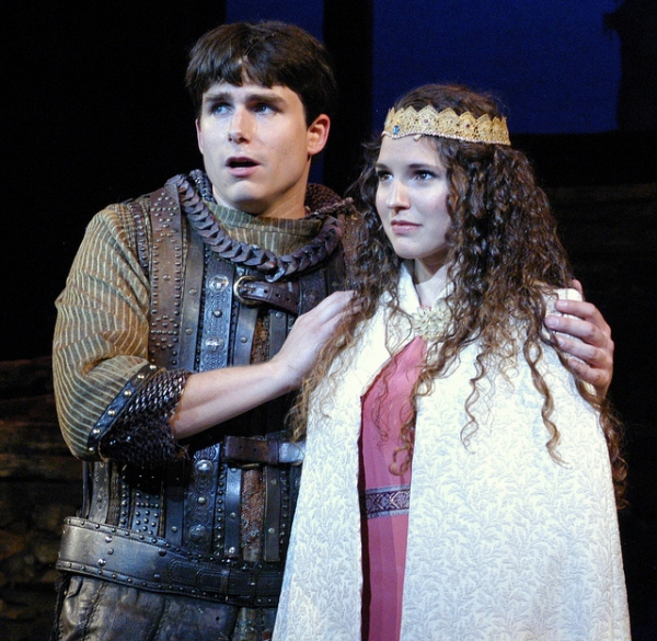 David Bryant Johnson as Arthur and Melissa Mitchell as Guenevere Photo