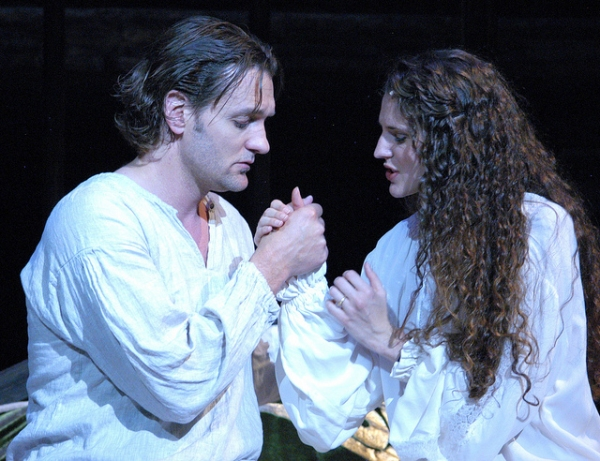Glenn Seven Allen as Lancelot and Melissa Mitchell as Guenevere Photo