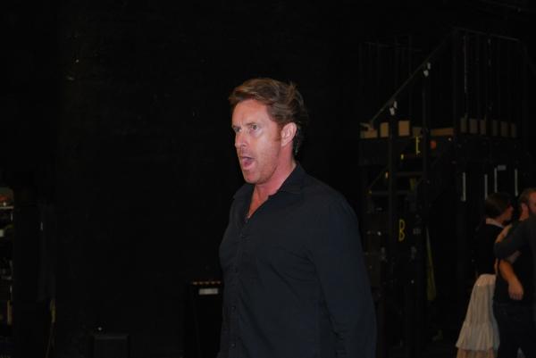 Earl Carpenter in rehearsal for Les Miserables. Photo