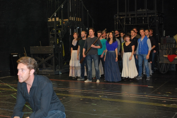 Earl Carpenter and The Company of Les Miserables. Photo