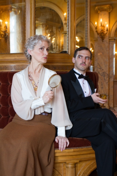 Tia Speros (Miss Tweed) and Joseph Medeiros (Nigel).