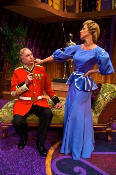 James Judy (Col. Gillweather) and Rebecca Watson (Lady Manley-Prowe).  Photo