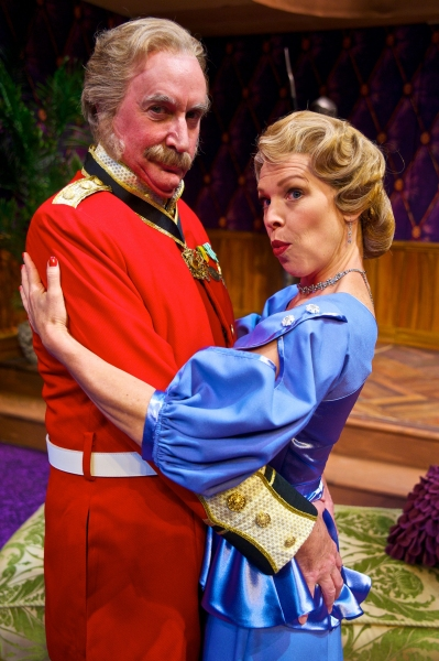 James Judy (Col. Gillweather) and Rebecca Watson (Lady Manley-Prowe).