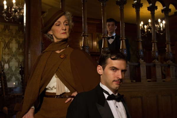 Tia Speros (Miss Tweed), Jaron Barney (Clive) and Joseph Medeiros (Nigel).