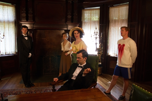 Jaron Barney (Clive), Tia Speros (Miss Tweed), Laura Hall (Hope), Joseph Medeiros (Nigel) and Will Ray (Geoffrey).