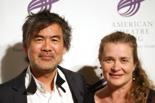David Henry Hwang and wife Kathryn Layng