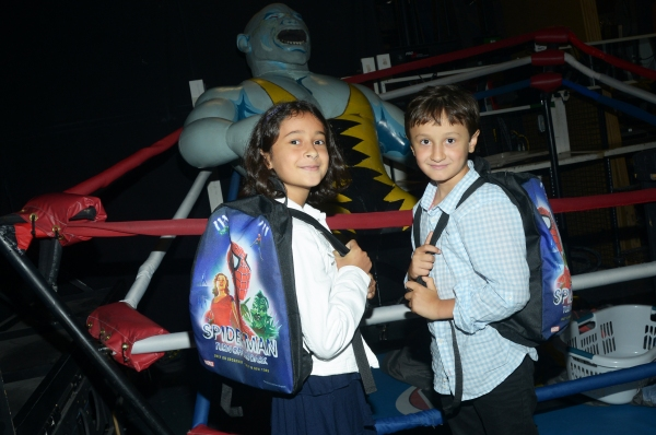 Photo Flash: SPIDER-MAN TURN OFF THE DARK Welcomes Back-to-School 'Golden Ticket' Winners