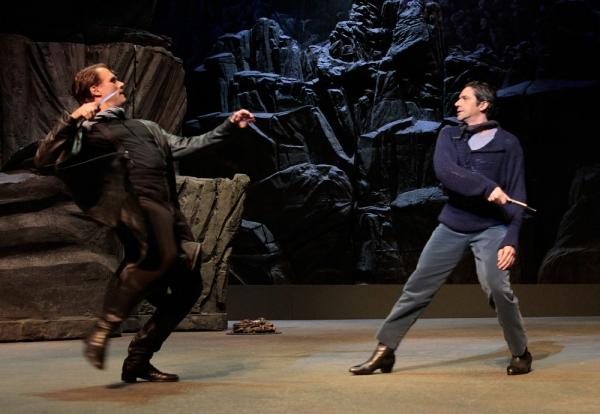 Don Jose (Brandon Jovanovich'' and Escamillo (Ildebrando D''Arcangelo) clash over their love for Carmen.