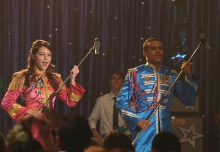 GLEE: Marley (Melissa Benoist, L) and Jake (Jacob Artist, R)
