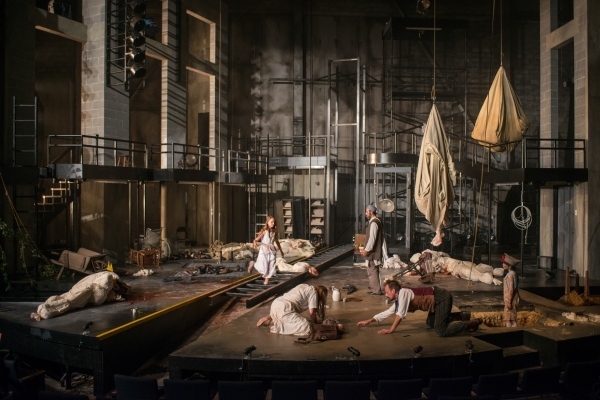 The company of Steppenwolf Theatre Company's American-premiere production of The Wheel