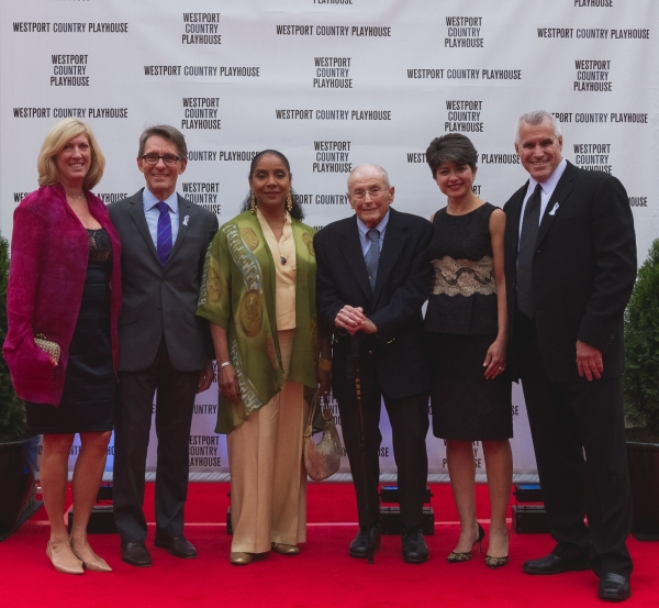 Judy Phares (Gala co-chair), Mark Lamos (artistic director), Phylicia Rashad,                           Howard J. Aibel, Katia Friend (Gala co-chair), Michael Ross (managing director)