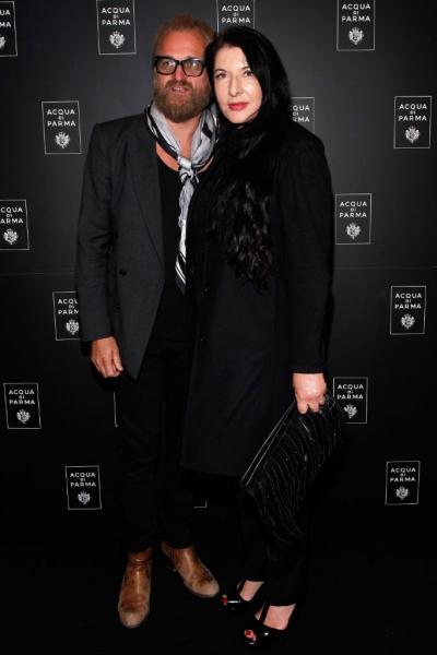 Marina Abramovic and Fashion Designer Johan Lindberg at Roberto Bolle and Friends