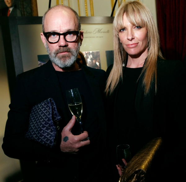 Michael Stipe (R.E.M) and Toni Collette come out for Roberto Bolle and Friends. Photo