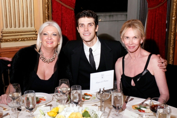 Gabriella Scarpa, president of LVMH Italia and Acqua di Parma, Roberto Bolle international dance star and actress Trudie Styler dining after a beautiful evening of ballet at Roberto Bolle and Friends.