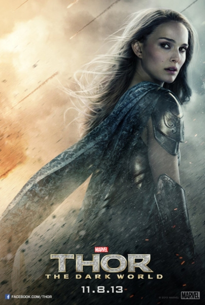 Photo Flash: Natalie Portman & Jamie Alexander Featured in New THOR: THE DARK WORLD Posters