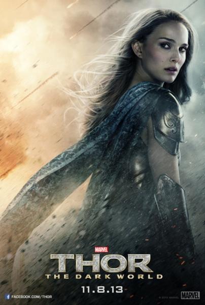 Photo Flash: Natalie Portman & Jamie Alexander Featured in New THOR: THE DARK WORLD Posters