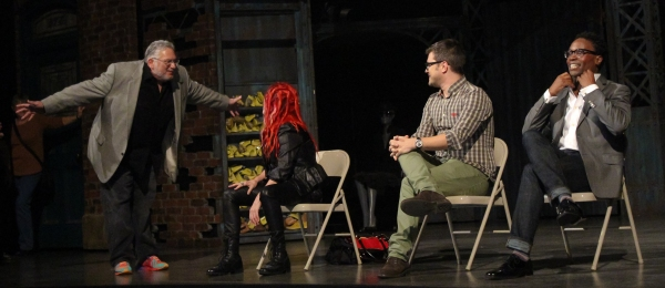 Harvey Fierstein, Cyndi Lauper, Stephen Oremus and Billy Porter