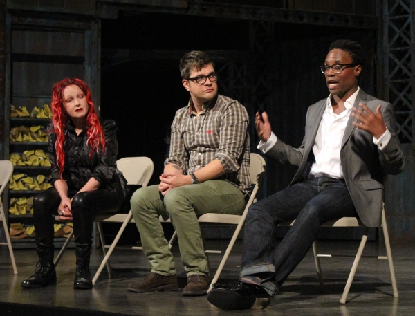 Cyndi Lauper, Stephen Oremus and Billy Porter