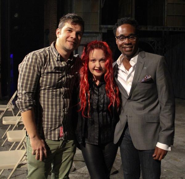 Stephen Oremus, Cyndi Lauper and Billy Porter