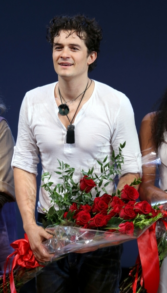 Orlando Bloom during the Broadway Opening Night Performance Curtain Call for ''Romeo  Photo