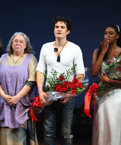 Jayne Houdyshell, Orlando Bloom & Condola Rashad  Photo
