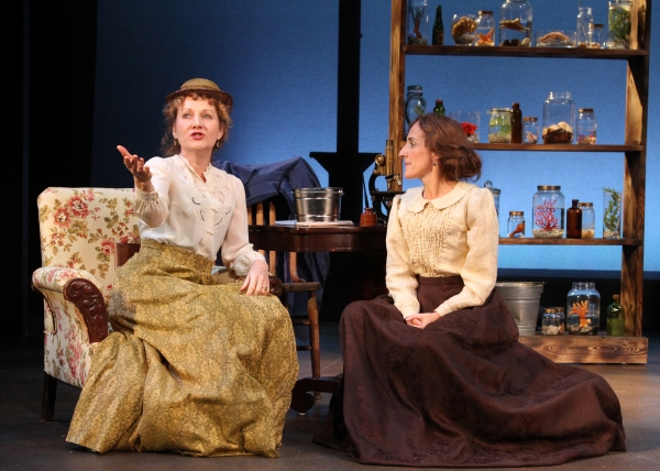 (left) Deanne Lorette as Evans' best friend – the painter Barbara Bodichon – and Aedin Moloney as Mary Anne Evans also known as George Eliot