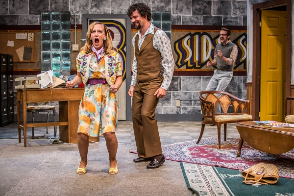 Missi Davis, Kevin Stangler and Brad Smith in B-SIDE STUDIO co-written by Ike Holter  Photo