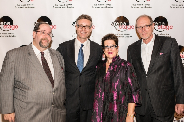 Larry Kaye of HOP Theatricals, LLC, playwright Eric Coble, Artistic Director Molly Sm Photo