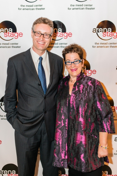 Playwright Eric Coble and Artistic Director Molly Smith  Photo