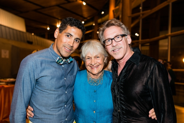 Lighting designer Rui Rita with cast members Estelle Parsons and Stephen Spinella  Photo