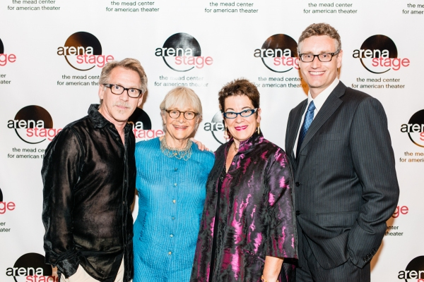 Stephen Spinella and Estelle Parsons, Artistic Director Molly Smith and playwright Eric Coble